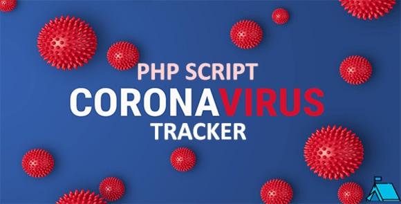Coronavirus Tracker Realtime Data Vector Map PHP Script