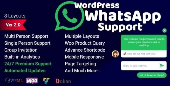WordPress WhatsApp Support Plugin Nulled Download