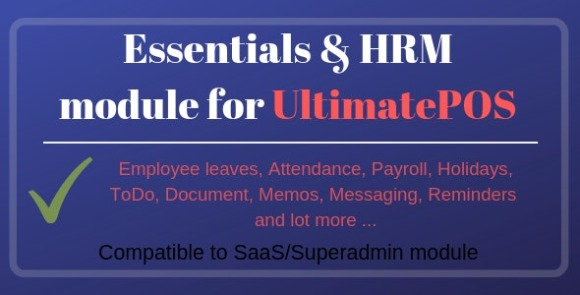 Essentials and HRM Module for UltimatePOS