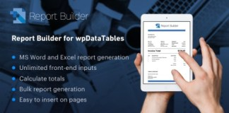 Report Builder Add-on for wpDataTables WordPress Plugin