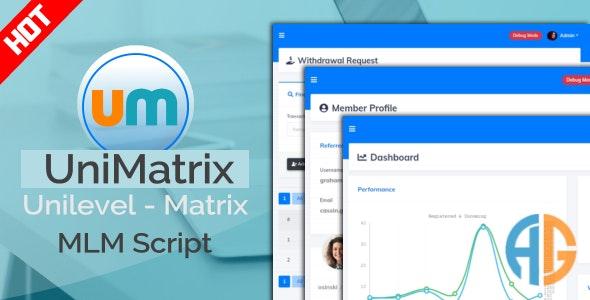 UniMatrix Membership MLM Nulled Script
