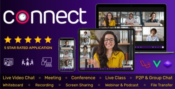 Connect Live Video and Chat Messaging, Live Class PHP Script