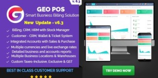 Geo POS Point of Sale Billing and Stock Manager Application Nulled