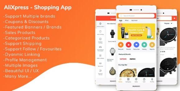 AliXpress App Multi Vendor Shopping App Source Code