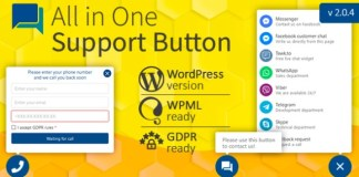 All in One Support Button and Callback Request WordPress Plugin