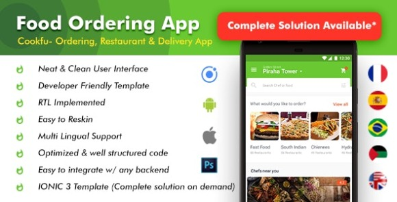 Food Delivery App and Food Ordering Android iOS App Source Code