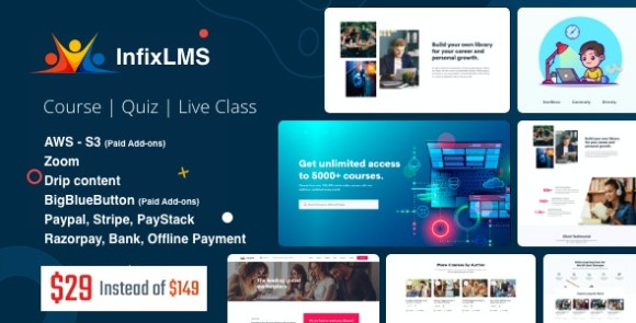 Infix LMS Learning Management System Nulled Script