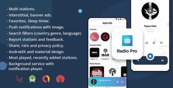 Radio Pro Multi-station Radio App with Admin Panel Source Code