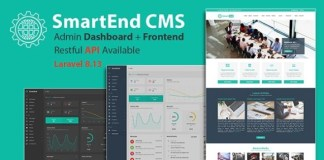 SmartEnd CMS Laravel Admin Dashboard with Frontend and Restful API Script