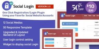 Social Login WordPress Plugin AccessPress Social Login