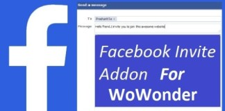 Facebook Invite Addon For WoWonder Download