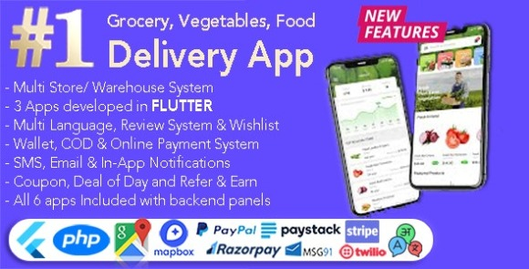 GoGrocer Grocery Vegetable and Food Delivery App Source