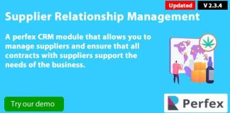 Supplier Management Module for Perfex CRM Download