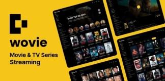 Wovie Movie and TV Series Streaming Platform PHP Script