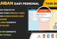 pKANBAN Personal Task Board PHP Script