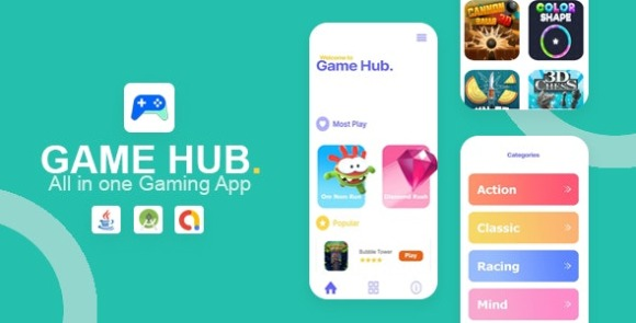 Game Hub All in One Game App Source Code