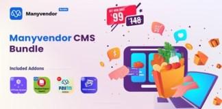 Manyvendor eCommerce and Multi-vendor CMS Bundle