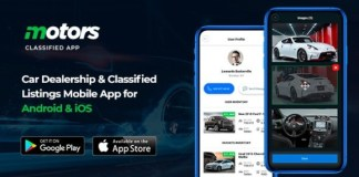 Motors Car Dealership and Classified Listings Mobile App for Android and iOS