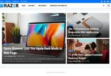 Razer Premium Magazine Blogger Template