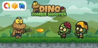 Dino Zombie Shooter Android Game with AdMob Ads App Source Code
