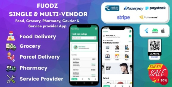 Fuodz Grocery Food Pharmacy Courier App and Backend