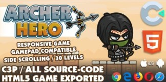 Archer Hero HTML5 Game with Construct 3 All Source Code