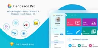 Dandelion Pro React Admin Dashboard Template Download