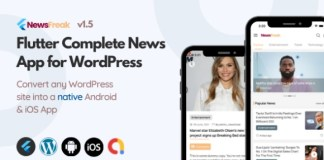 Newsfreak Flutter News App for WordPress App Source Code