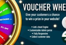 Voucher Wheel Engage and Give Prizes to your Customers Script