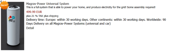 Magrav power system
