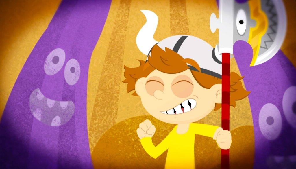 Un personnage du jeu Puzzle Axe.