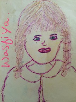 Portrait of the Artist as Young Girl. Artist: Wasfiya