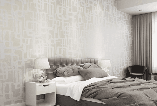 Classy Cream, Gold & Grey Abstract Geometric Wallpaper