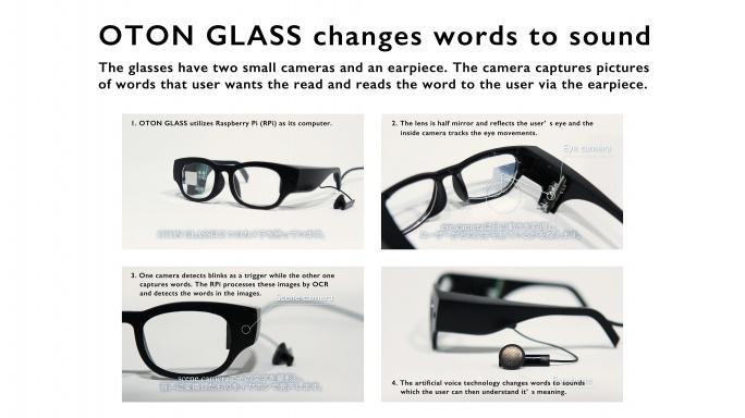 oton glass for dyslexia raspberry pi