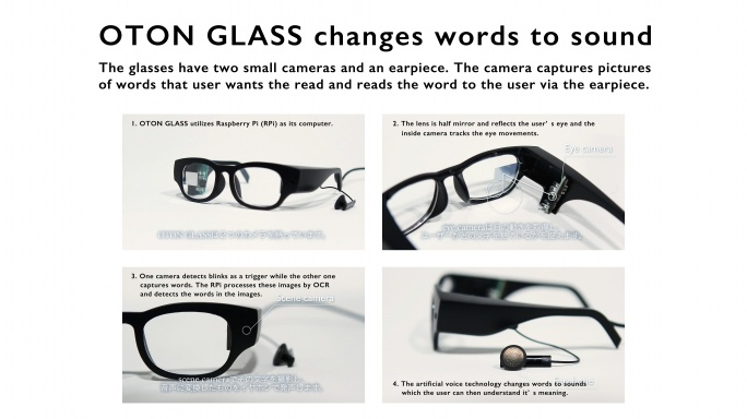 oton glass for dyslexia raspberry pi
