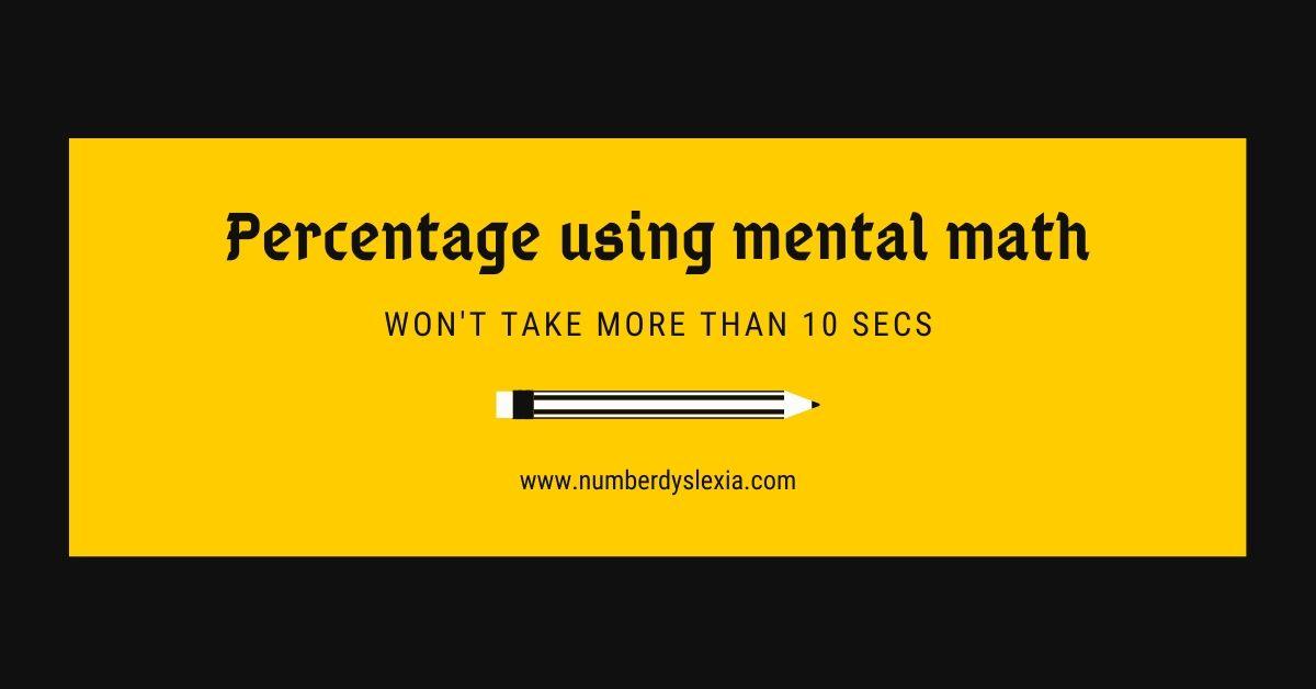 Percentage using mental math