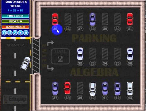 parking algebra game