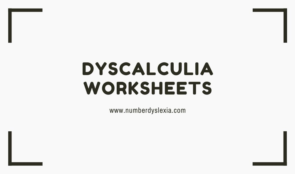 dyscalculia worksheets