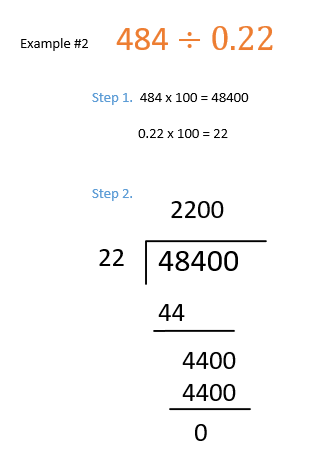 decimal division examples when dividend is a whole number and divisor is decimals