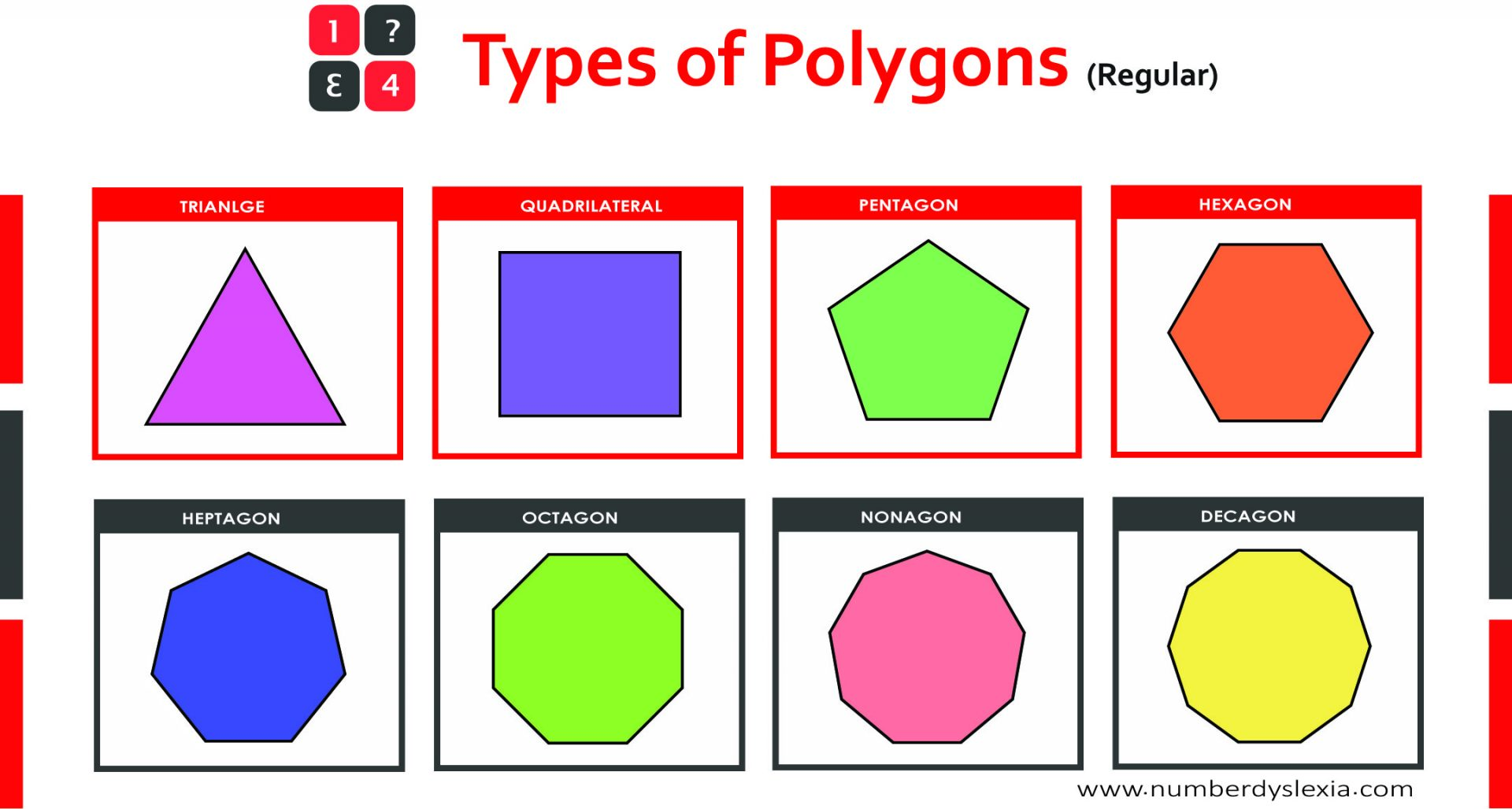 Free Printable Polygons Colored Charts For Classroom