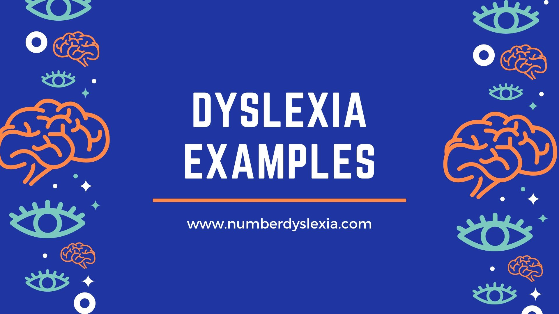 dyslexia example how reading and writing feels like?