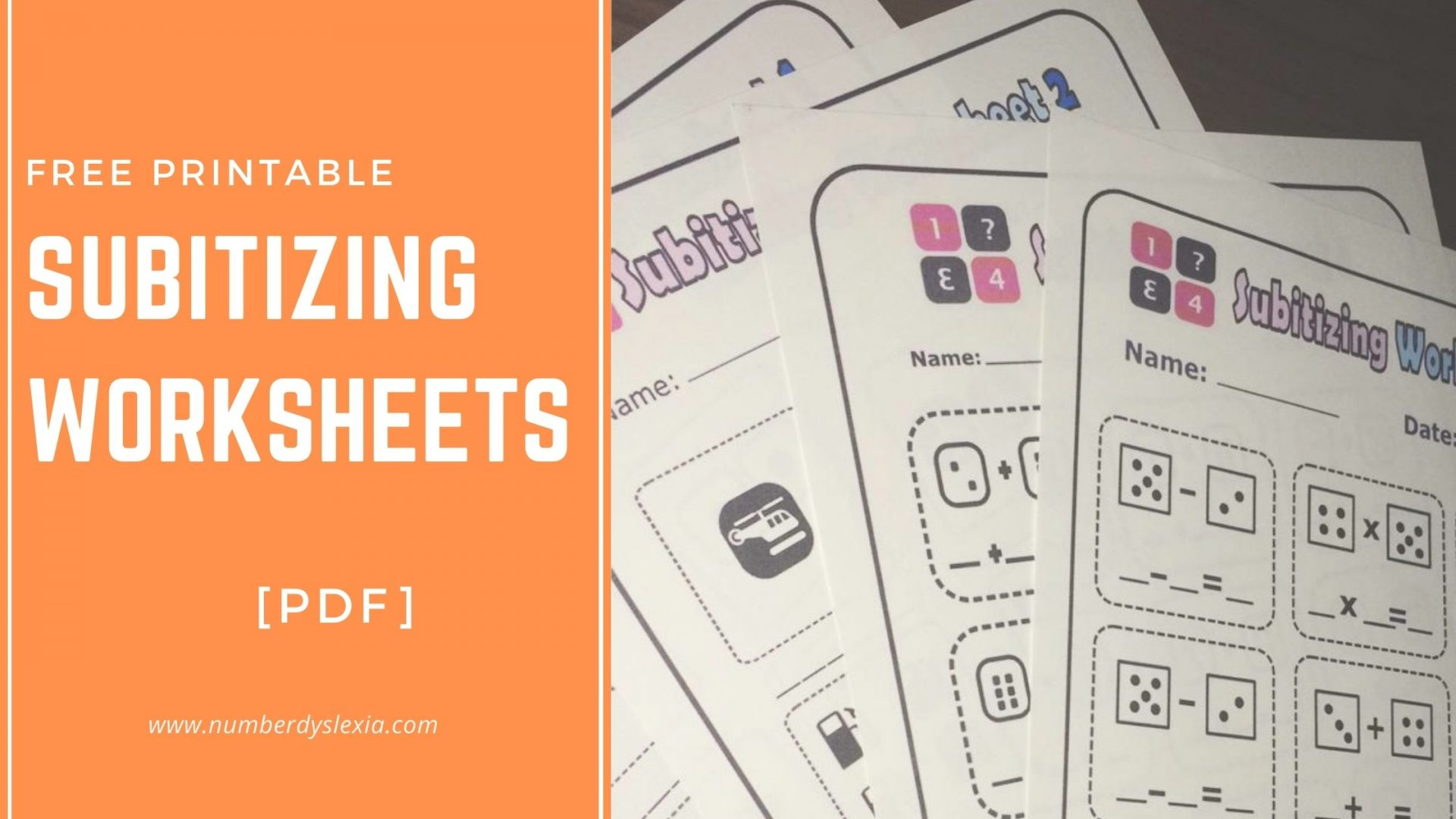 Free Printable Subitizing Worksheets For Practice