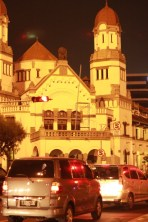 Lawang Sewu, taken from Pemuda Street at night. Photo courtesy : Bayu