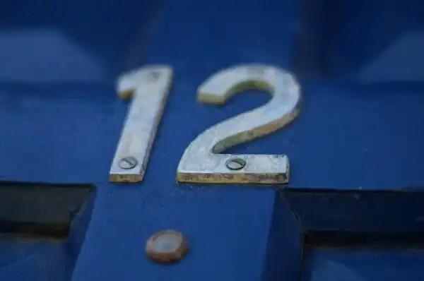door with twelve number