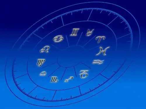 horoscope on blue background