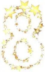 number eight stars