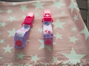 Pacifier with mini clips