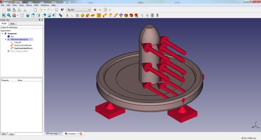 FreeCAD FEM Boundary Conditions