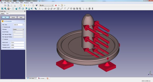 FreeCAD FEM Mesher