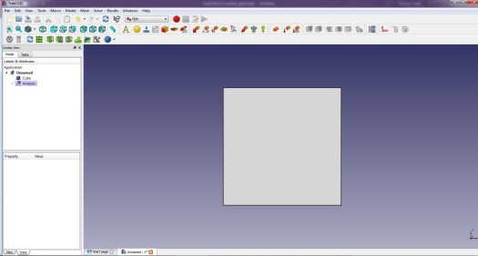 FreeCad 0.17 FEM Toolbar